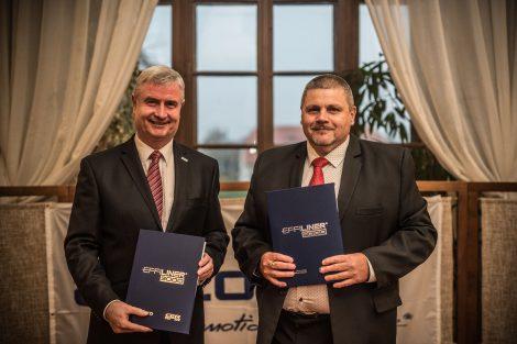 Josef Bárta, předseda představenstva CZ LOKO a Ján Kišš, člen představenstva CER Slovakia. Autor: CZ Loko