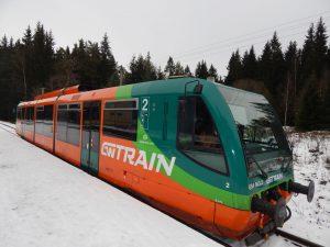 Vlak RegioSprinter společnost GW Train ve stanici Černý Křííž. Autor: Zdopravy.cz/Jan Šindelář