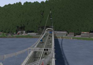 Nový most v Linci, vizualizace. Zdroj: ASFINAG