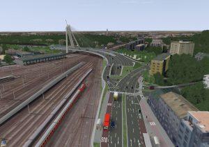 Nová linecká dálnice A26, vizualizace. Zdroj: ASFINAG