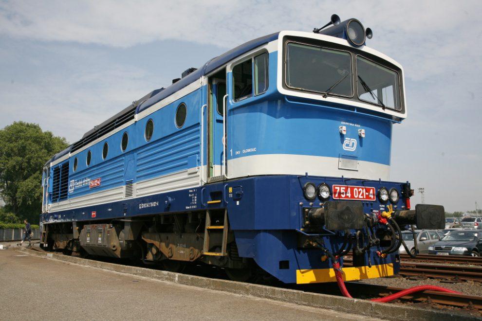 Lokomotiva 754. Foto: České dráhy