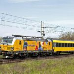 Vlak Regiojetu v čele s lokomotivou Siemens Vectron. Foto: Timotej Gruchalák