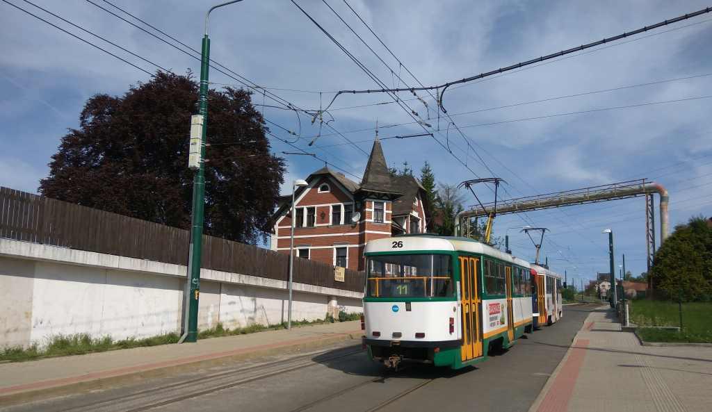 Tramvajová trať Liberec - Jablonec nad Nisou. Foto: Jan Sůra