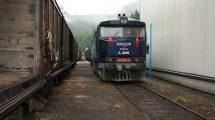 Vlak na vlečce KMV v Kyselce. Autor: KMV