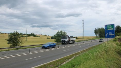 Silnice I/48 Rybí - Rychaltice před zahájením přestavby. Autor: MDČR