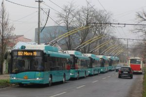Trolejbusy Škoda 26Tr prro rumunské město Galati. Autor: Škoda Electric