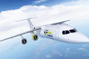 Návrh podoby nového hybridního letadla, které připravuje Airbus. Foto: Airbus