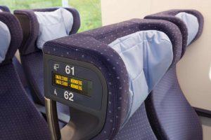 Údaje o rezervaci jsou na displeji v sedačce. Foto: Siemens