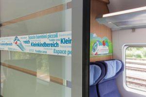 Oddíl pro rodiny s dětmi v novém ICE 4. Foto Siemens