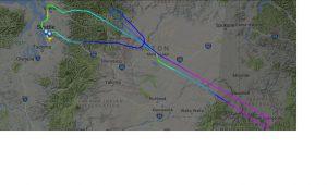 Záznam letu prvního Boeingu 737 MAX 8 pro Travel Service. Foto: Flightradar24.com
