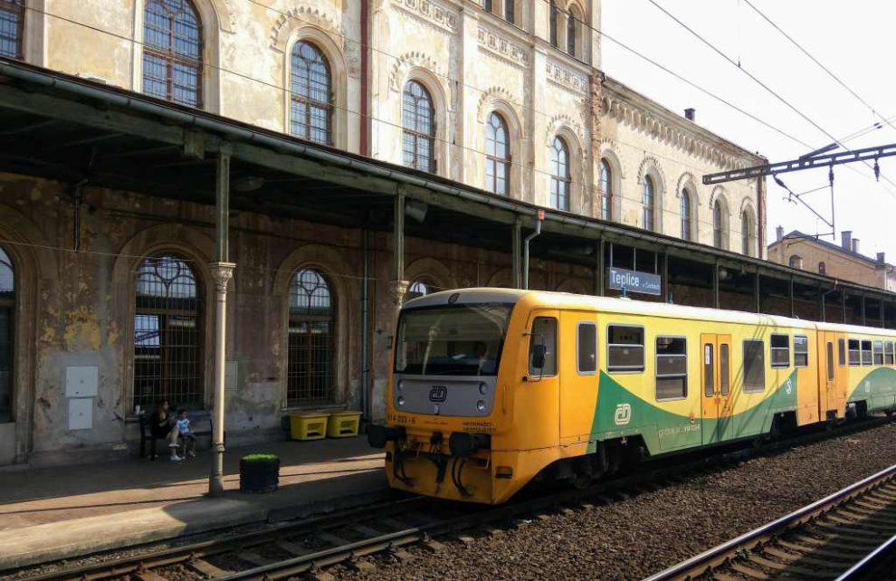 Železniční stanice Teplice. Foto: Jan Sůra
