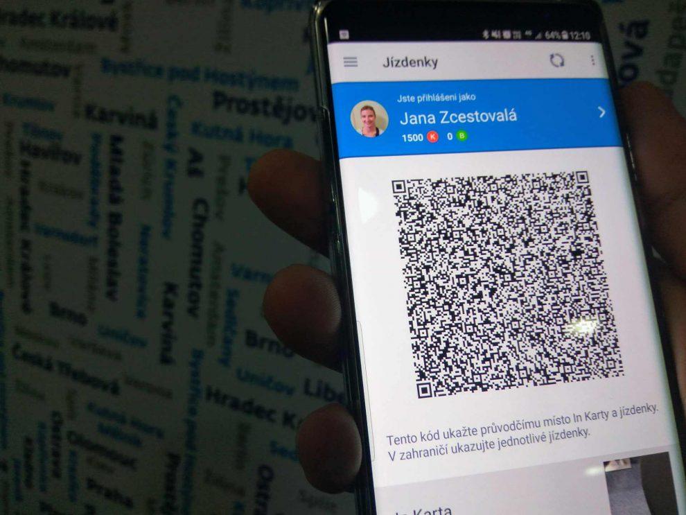 Virtuální In Karta v aplikaci Můj vlak. Foto: Jan Sůra