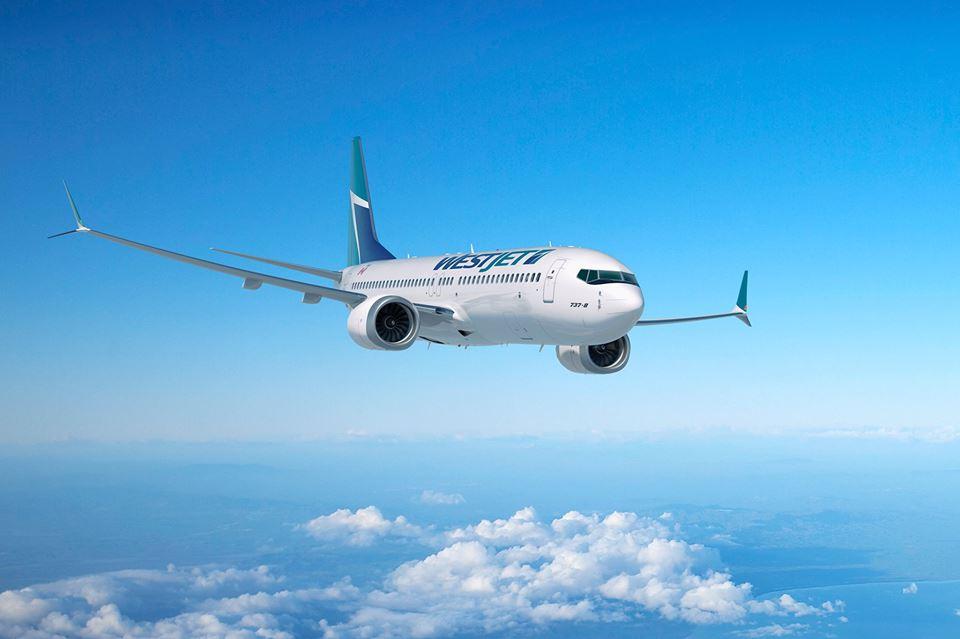 Boeing 737-8 MAX společnosti WestJet. Foto: WestJet