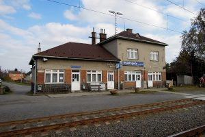 Železniční stanice Hustopeče nad Bečvou, foto: Radim Holiš/WikiMedia (licence CC-BY-SA-3.0)