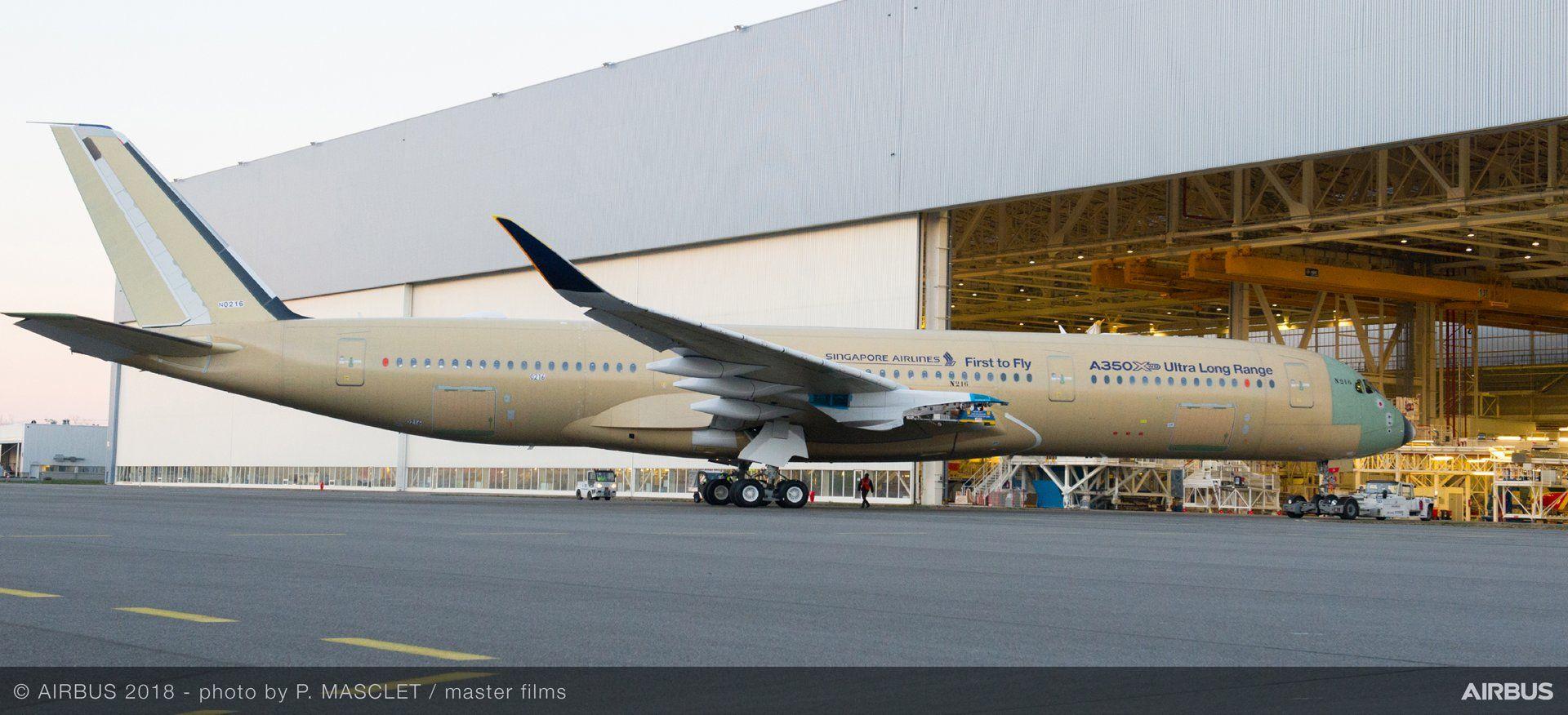 A350-900ULR po opuštění montážní linky. Foto: Airbus