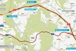 Trasa navrhované dálnice mezi Starým Městem a Mohelnicí. Foto: ŘSD