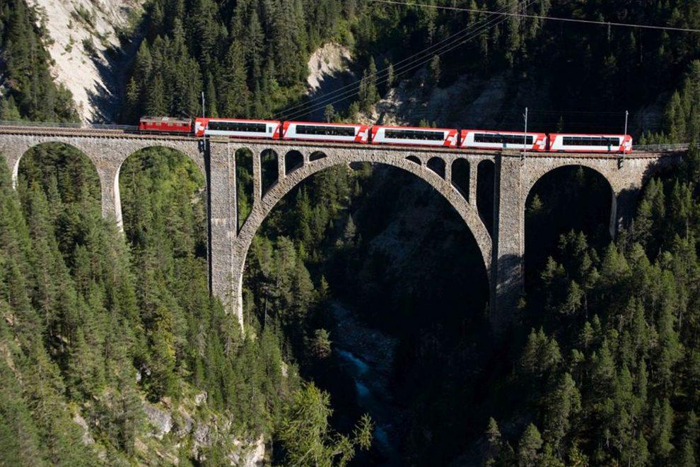 Wiesenský viadutk na trati mezi Filisurem a Davosem je nejvyšší v celé síti Rhätische Bahn. Foto: RhB