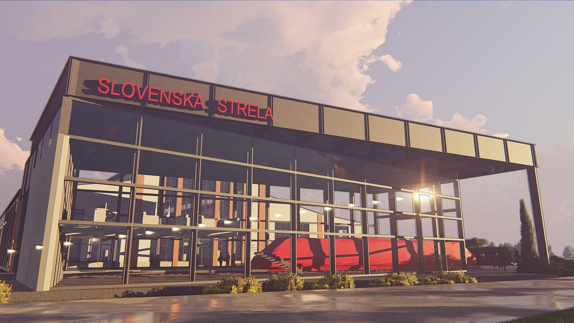 Vizualizace nového depozitáře pro Slovenskou strelu. Foto: Tatra Trucks