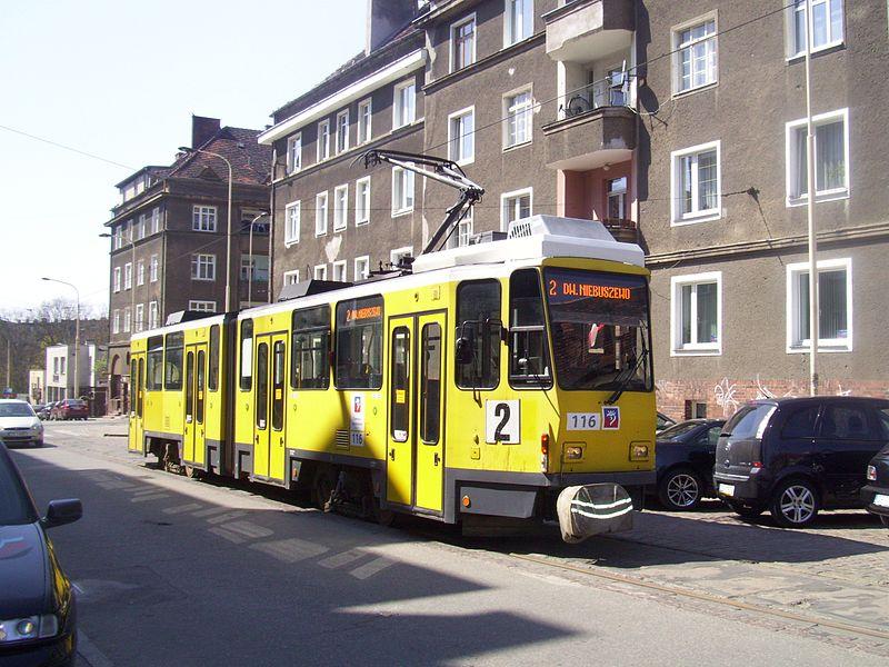 Tatra KT4DM v polském Štětíně. Autor: Szczecinolog, Wikimedia Commons
