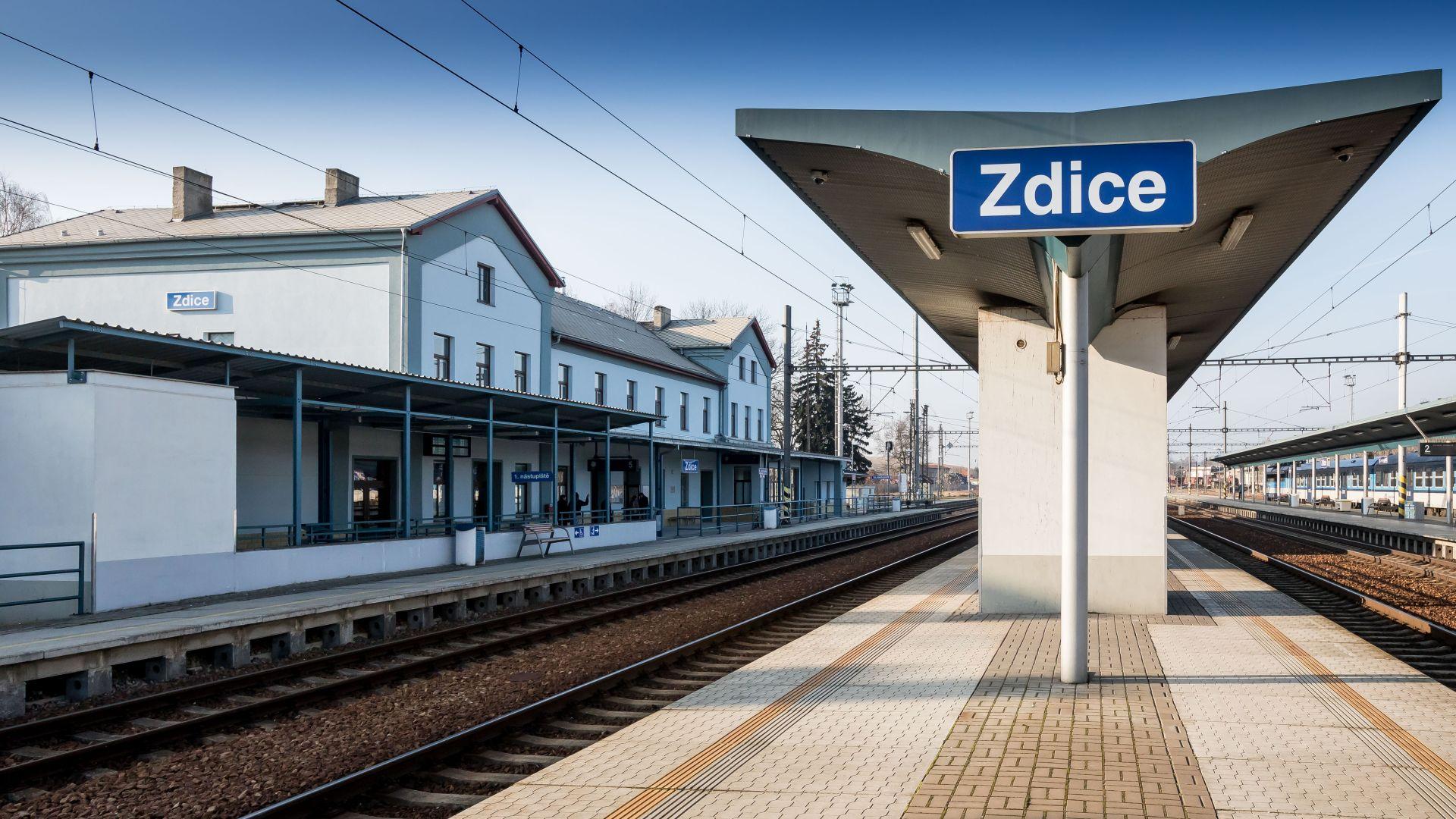 Nádraží Zdice. Autor: Správa železniční dopravní cesty
