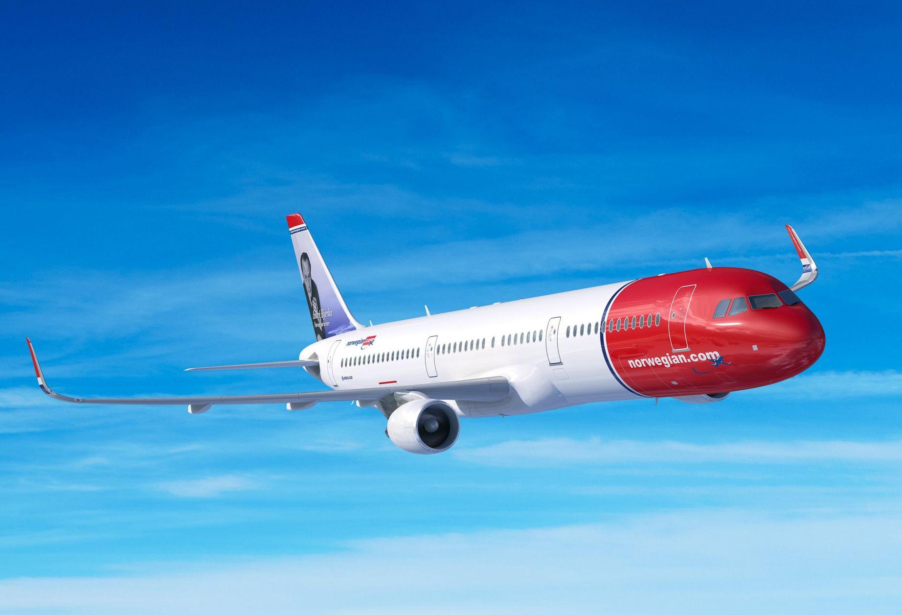 Airbus A321LR v barvách Norwegian. Foto: Airbus