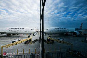 Boeing 777 Turkish Airlines na letišti v Atlantě. Foto: Hartsfield-Jackson Atlanta International Airport
