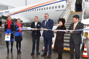 Slavnostní křest nového letadla 737 MAX 8: Foto: Letiště Praha