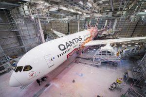 Nový nátěr společnosti Qantas pro Boeing 787-9