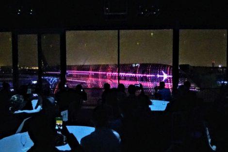 Galavečer a světelná show u příležitosti předání prvního A350-1000 pro Qatar Airways. Foto: Jan Sůra