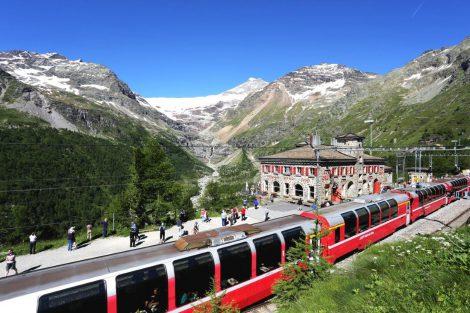 Stanice Alp Grüm. Foto: Rhätische Bahn