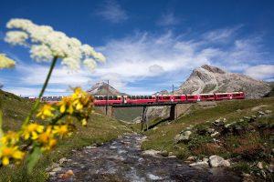Nejvyšší partie Berninabahn. Foto: Rhätische Bahn