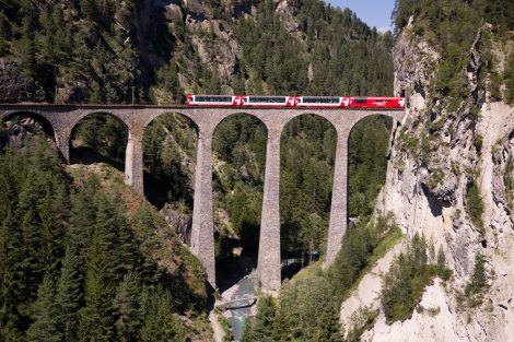 Viadukt Landwasser. Foto: Rhätische Bahn