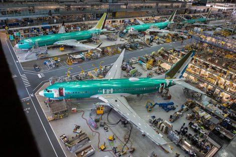 Výroba 737 MAX v závodě Boeingu v Rentonu. Foto: Boeing