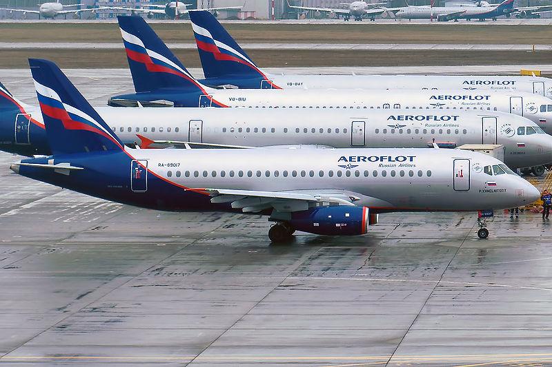 Suchoj Superjet 100 v barvách Aeroflotu. Foto: Anna Zvereva, Wikimedia Commons