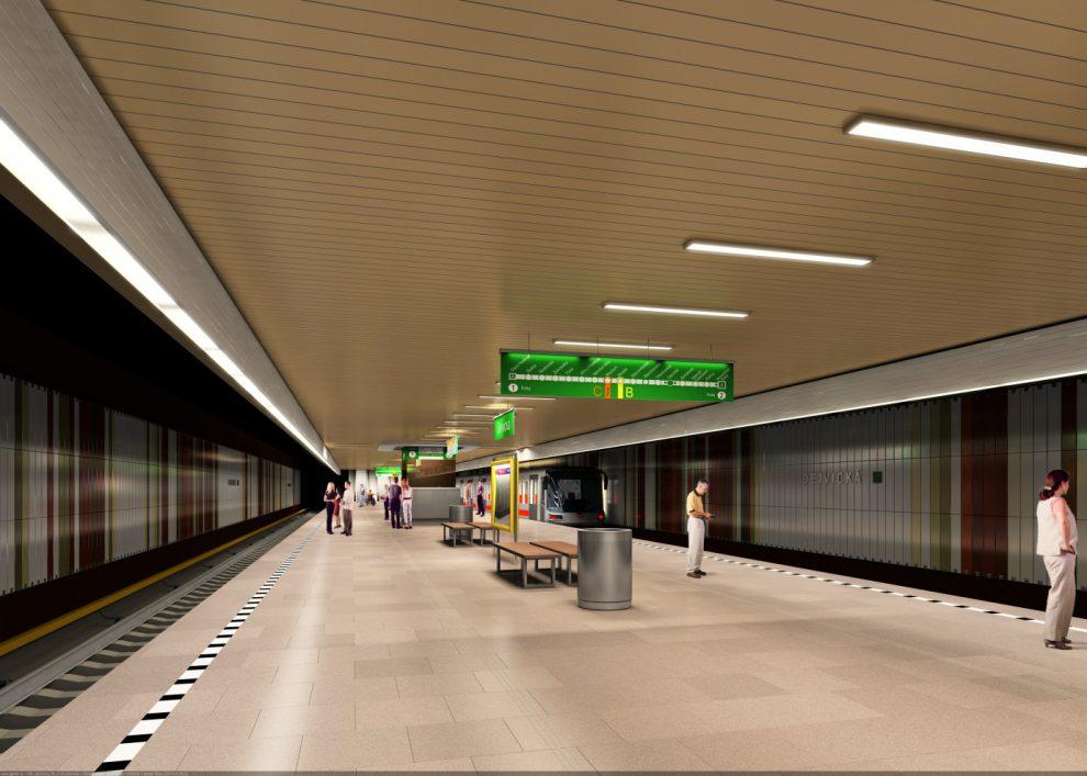 Metro Dejvická. Vizualizace: DPP