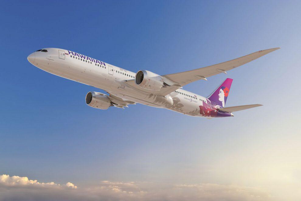 Vizualizace Boeingu 787-9 v barvách Hawaiian Airlines. Foto: Boeing