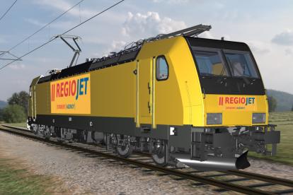 Vizualizace lokomotivy z loňského roku, když RegioJet oznámil nákup nových lokomotiv. Foto: RegioJet