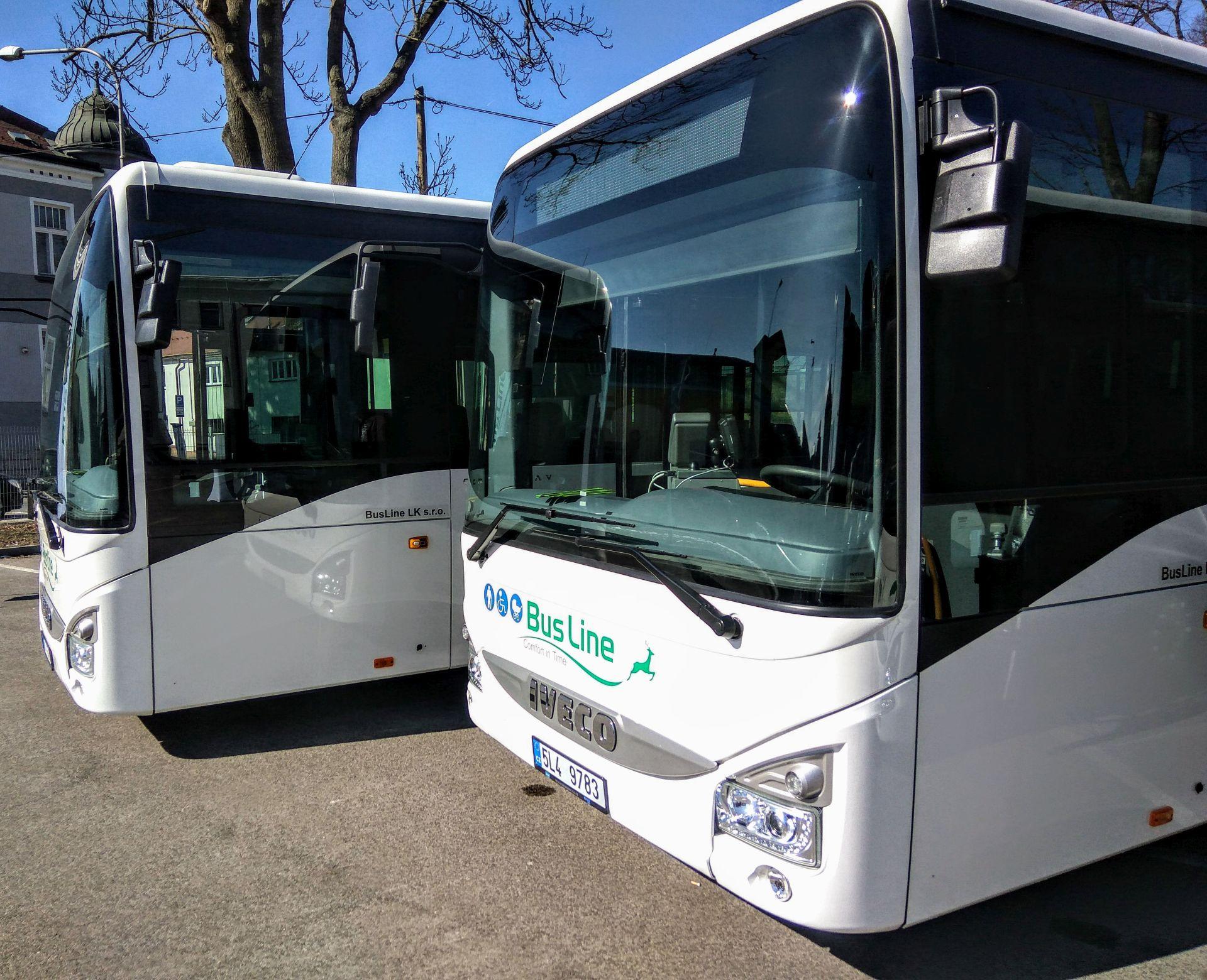 Nové autobusy Iveco Crossway pro Busline. Foto: Jan Sůra