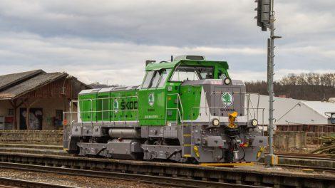 Čtyřnápravové lokomotivy EffiShunter 500 pro Škoda Auto. Foto: CZ LOKO