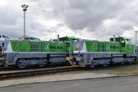Nová lokomotiva EffiShunter 500 přímo na vlečce ve Škodě Auto. Foto: Škodovácký odborář