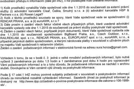 Zpoplatnění žádosti o informace. Foto: DPP