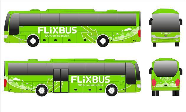 Elektrobus Yutong v barvách FlixBusu. Foto: FlixBus