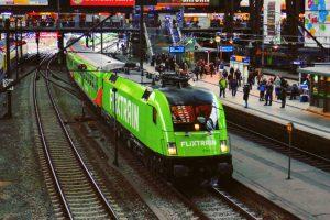 FlixtTrain na hlavním nádraží v Hamburku. Foto: FlixTrain