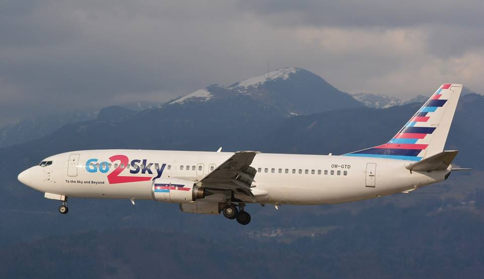 Boeing 737-400 společnosti Go2Sky. Foto: Go2Sky