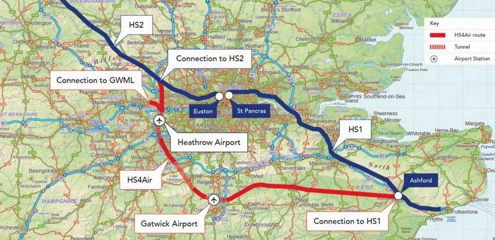 Trasa vysokorychlostní trati HS4Air. Foto: Expedition