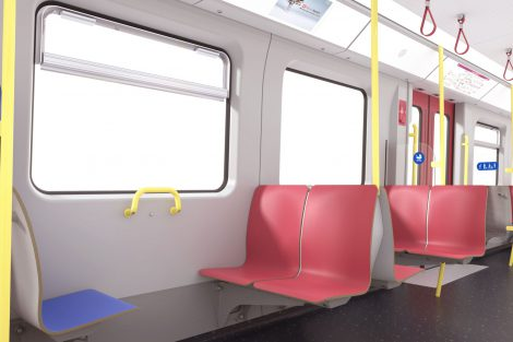 Interiér nového metra pro Vídeň. Nové vlaky budou zcela bezbariérové a mají umožnit snadný průchod celou soupravou. Foto: Siemens