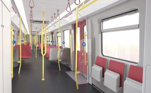 Siemens do vlaků nasadí nový informační systém, který bude cestující sdělovat i informace o přestupech a návazných spojích. Foto: Siemens.