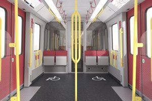 Interiér nové soupravy. Foto: Siemens
