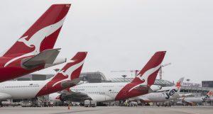 Letadla společnosti Qantas na letišti Changi v Singapuru. Foto: Qantas