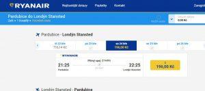 Ceny letenek z Pardubic do Londýna klesly na 196 Kč. Foto: Ryanair